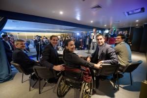 Michetti, Garro y Mosca acordaron facilitar accesos a las personas con discapacidad
