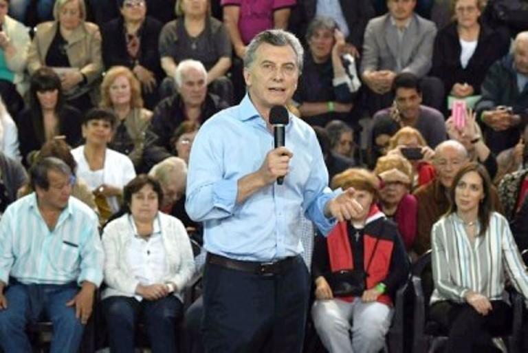 Mauricio Macri en campaña