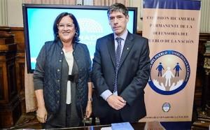 El ombudsman nacional, Abal Medina – Diana Conti y una danza de nombres