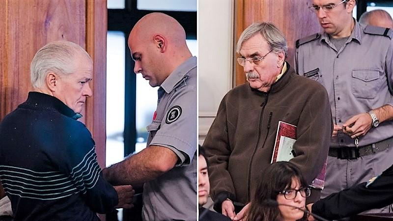 """Carlos """"El Indio"""" Castillo y Juan José """"Pipi"""" Pomares, dos personajes oscuros de La Plata. Mañana escucharán su veredicto en el marco del juicio por delitos de lesa humanidad."""
