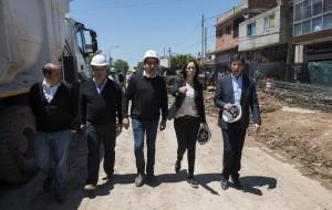 Vidal recorrió obras en San Isidro y San Martín
