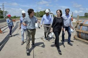 Vidal y Garro recorrieron una obra clave en La Plata