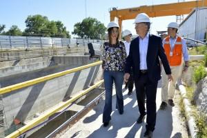 Vidal y Macri recorrieron las obras de soterramiento del Sarmiento