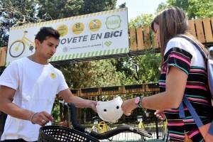 Buscan potenciar la bicicleta y borrar autos del microcentro