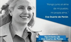 """Eva Perón, a 99 años de su nacimiento, """"explota"""" en las redes sociales"""