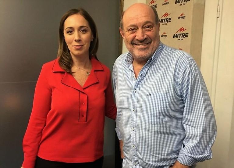 María Eugenia Vidal y Alfredo Leuco