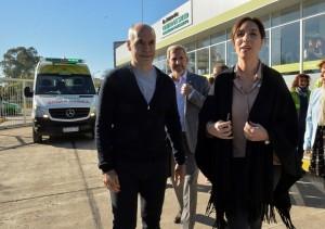 Vidal, Larreta y Frigerio, de inauguración en Tres de Febrero