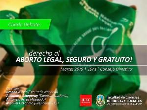 Charla sobre el aborto en la Facultad de Derecho de la UNLP