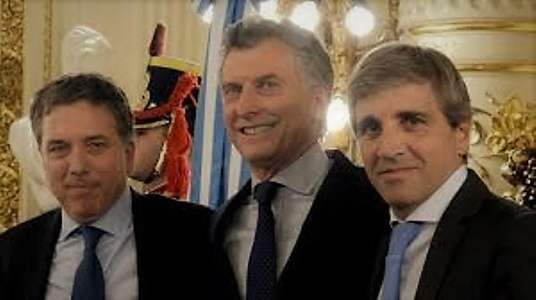 Dujovne, Macri y Caputo