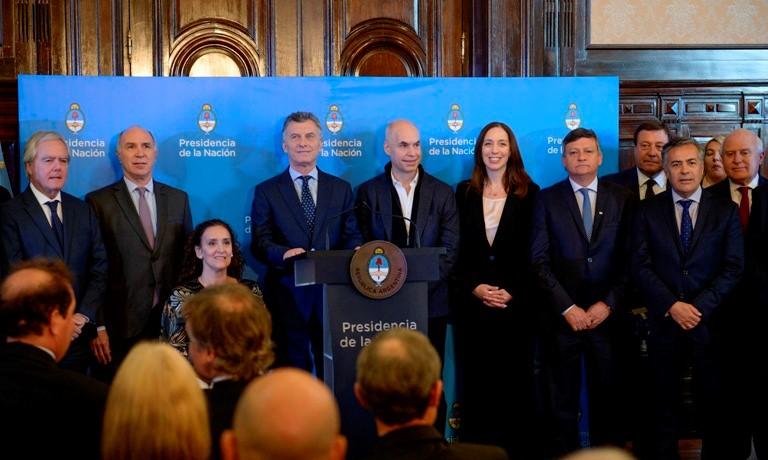 Vidal, Macri y Larreta