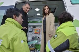 Vidal comandó la puesta en marcha del SAME en Moreno