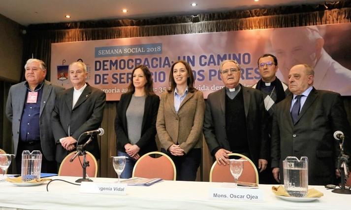 Vidal en la Semana Social en Mar del Plata