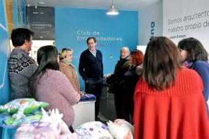 Garro lanzó una línea de microcréditos para emprendedores locales