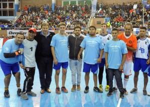 Scioli y Cascallares en una jornada de deporte inclusivo