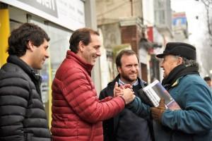 Garro encabezó el timbreo de Cambiemos en La Plata
