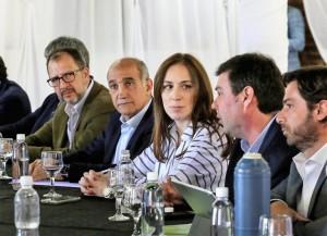 Agresiones y corridas en un escrache a la gobernadora Vidal