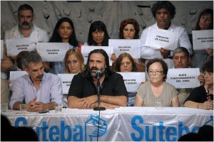"""Para Sánchez Zinny, la sucesión de paros tiene """"color político"""""""