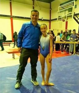 Triple medalla de plata para Lola Miguez en el Nacional de gimnasia artística