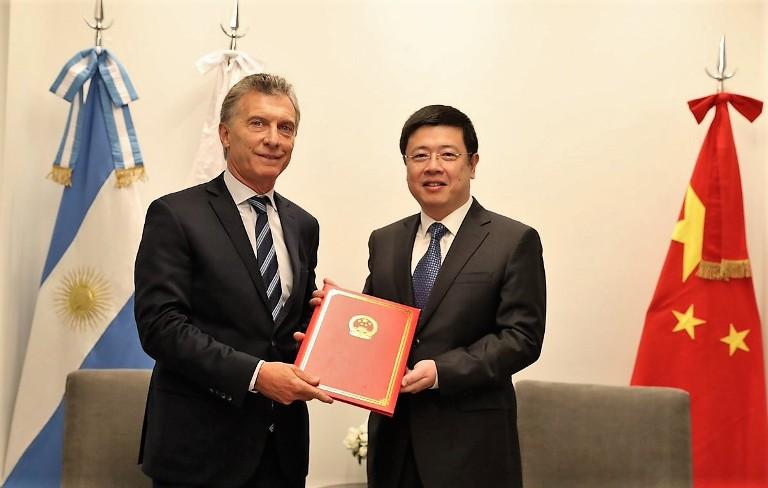 Macri embajador chino Zou Xiaol