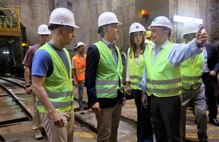 Macri, Vidal y Larreta en Dock Sud