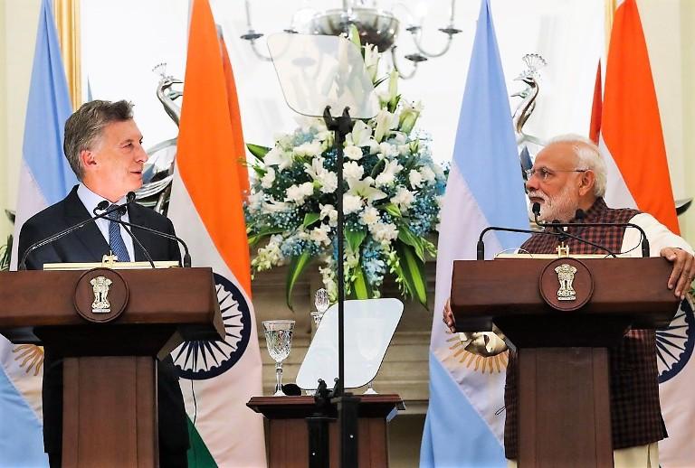 Macri en India con Modi