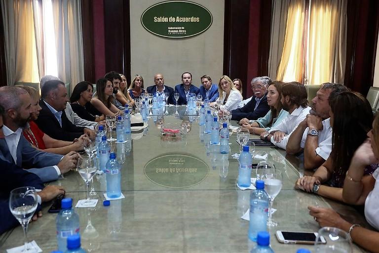 Vidal con senadores provinciales