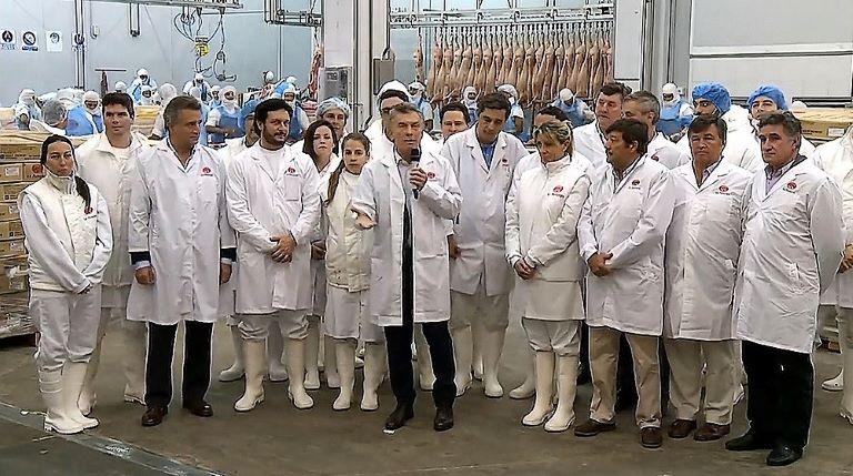 Macri carne a China
