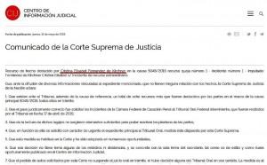 La Corte tuvo que aclarar que no se suspende el juicio oral contra CFK