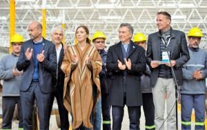 Vidal y Macri desembarcaron en Bragado para abrir un taller ferroviario
