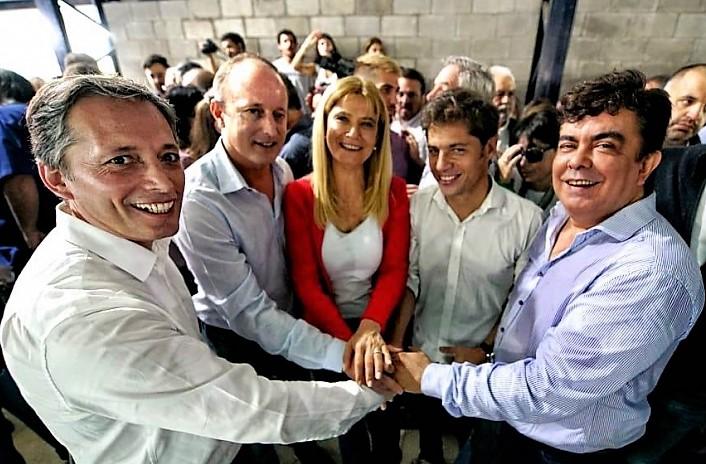 Gray, Insaurralde, Kicillof, Magario y Espinoza - PJ
