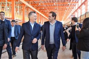 En campaña: Macri, Vidal y Garro recorrieron obras en la línea Roca