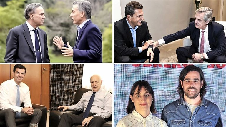 Pichetto y Macri - Massa y Fernandez - Urtubey y Lavagna - Del Plata y Del Caño