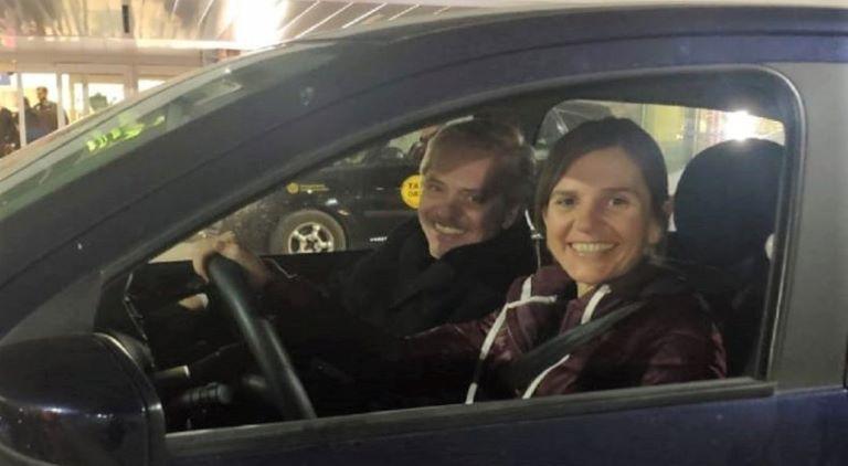 Fernanda Raverta y Alberto Fernández