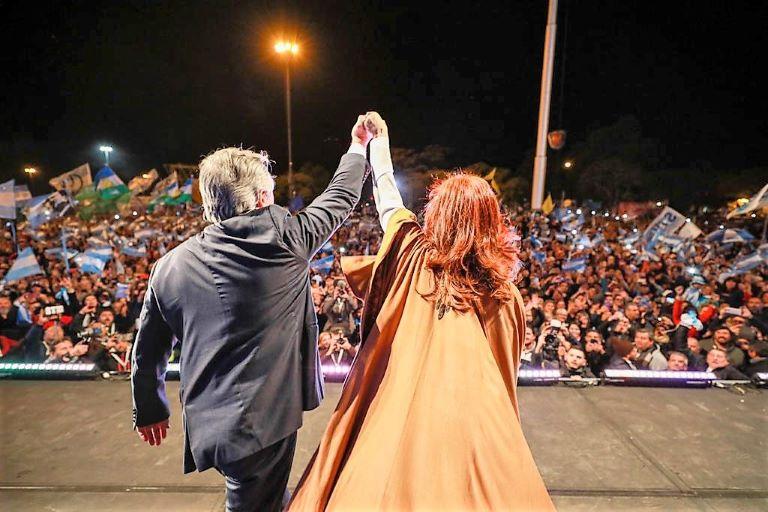 Alberto y Cristina cierre campaña Rosario 3