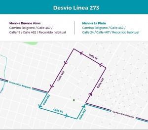 Camino Belgrano corte - City Bell