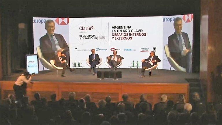 Macri en seminario de Clarin