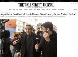 "De la ""gira"" de Cavallo al FMI en 1989, al ""default"" virtual de Alberto"
