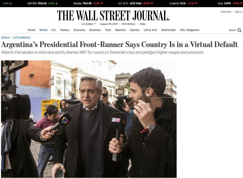 Wall Street Journal - Alberto Fernandez