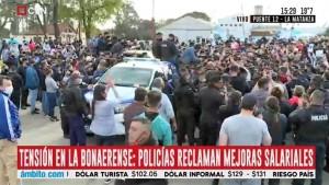 La Policía Bonaerense no afloja y se profundiza la protesta