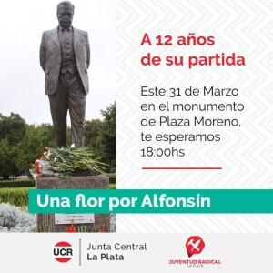 El radicalismo platense recuerda al ex presidente Raúl Alfonsín