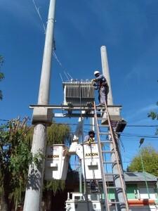 Concretan una obra energética para mejorar la red en Olmos