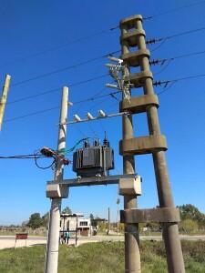 Mejoran las redes eléctricas en una zona de Coronel Brandsen
