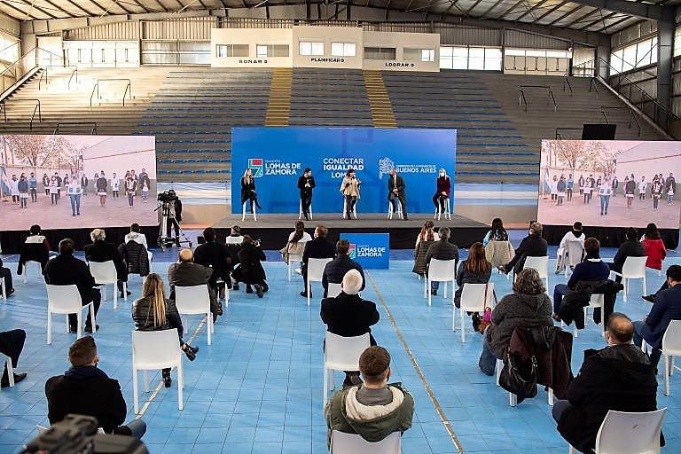 Cristina, Kicillof, Insaurralde, Magario y Agustina Vila - Acto en Lomas de Zamora