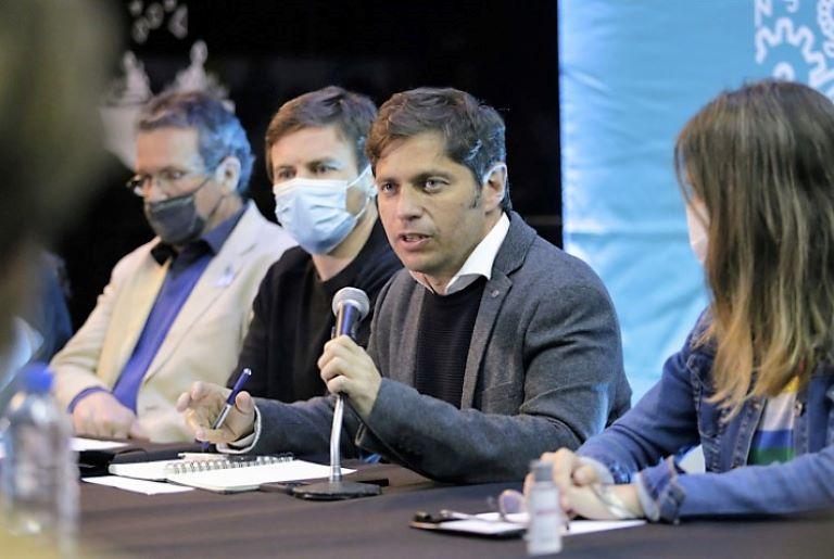 Kicillof con empresarios en Mar del Plata