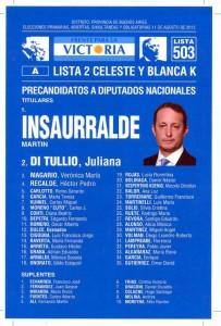 La foto de Insaurralde junto a Kirchner, Perón y Evita